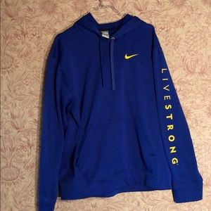 Nike Livestrong blue hoodie men's Med